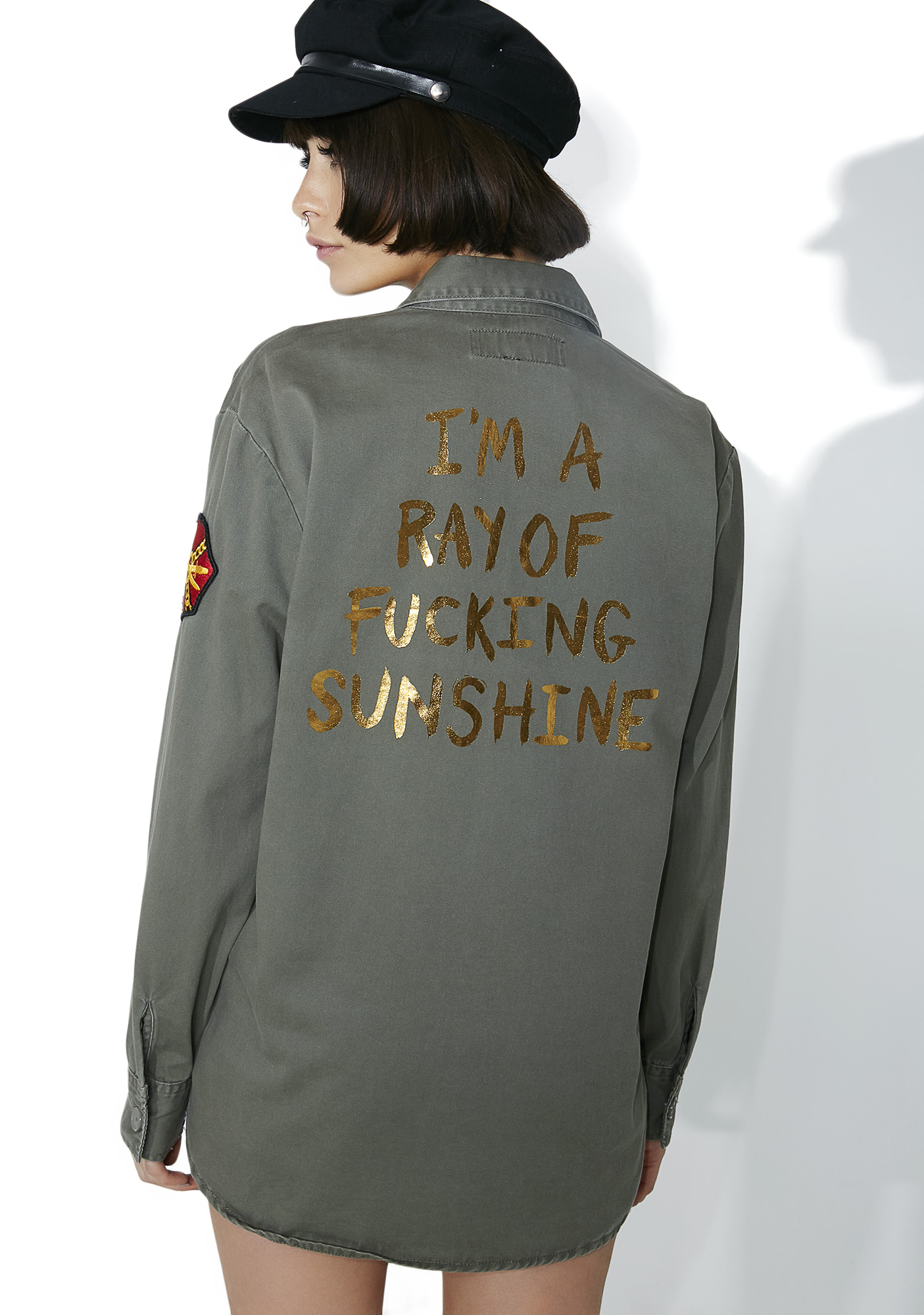 Jac Vanek Ray Of Sunshine Army Jacket