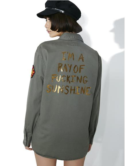 Ray Of Sunshine Army Jacket