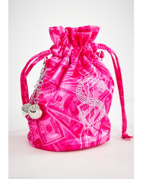 Makin' Millions Rhinestone Bucket Bag