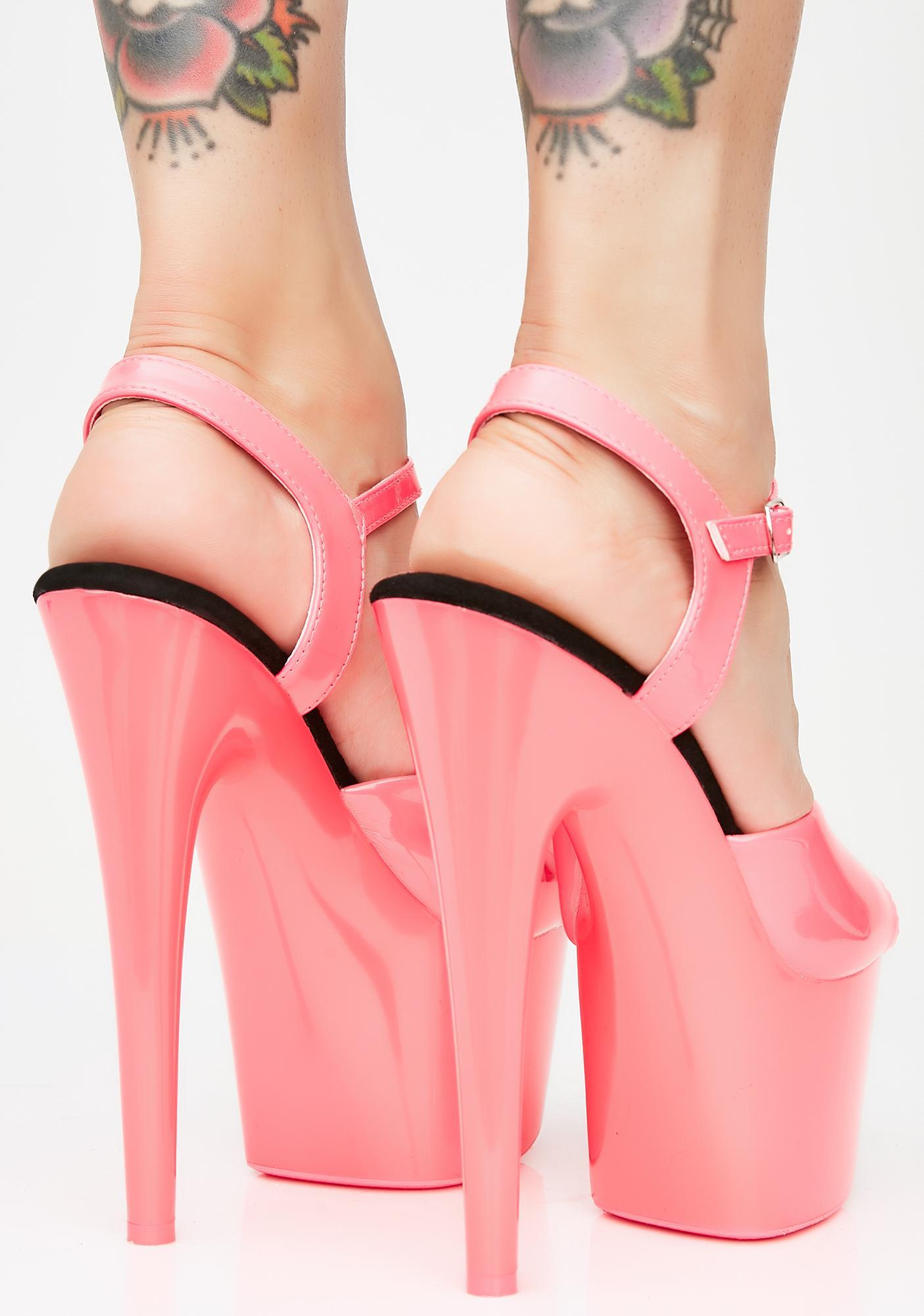Pleaser Pleasure Pleaser UV Reactive Heels