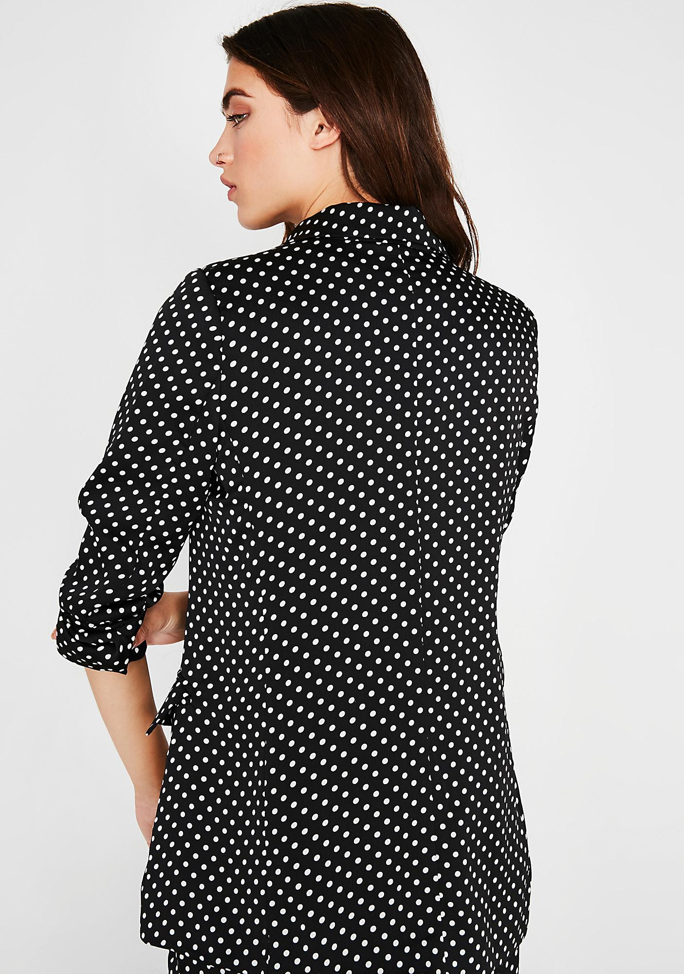 Polka Dot Boss Lady Blazer