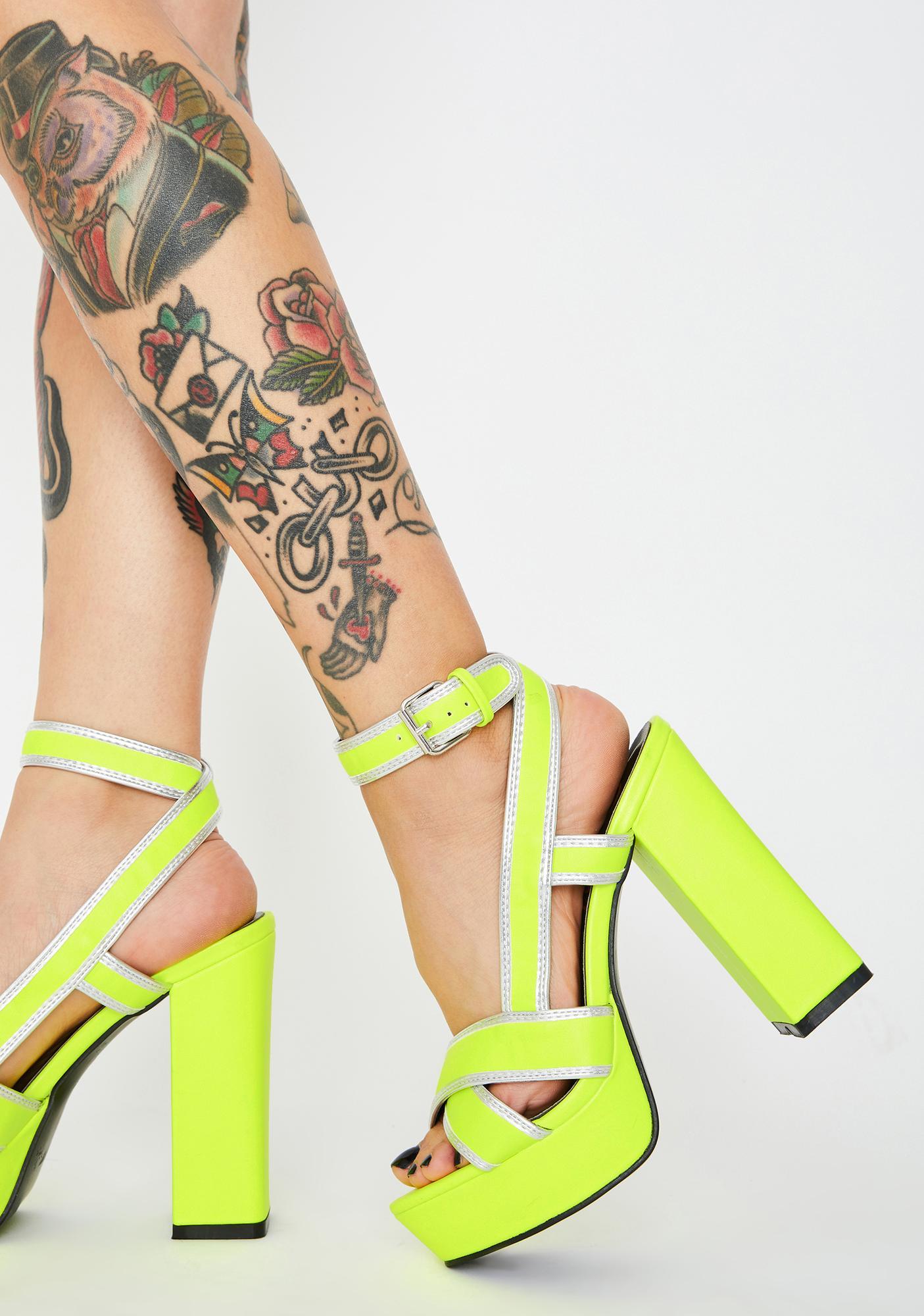 Bossy Broad Platform Heels