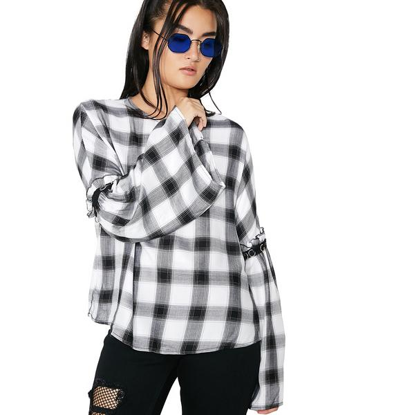 Glamorous Good Gossip Checkered Blouse