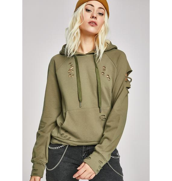 Bummed Out Distressed Hoodie