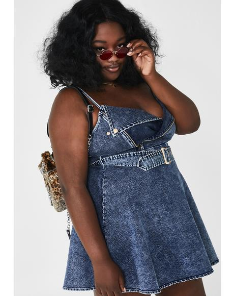 Forever Ride Or Die Denim Dress