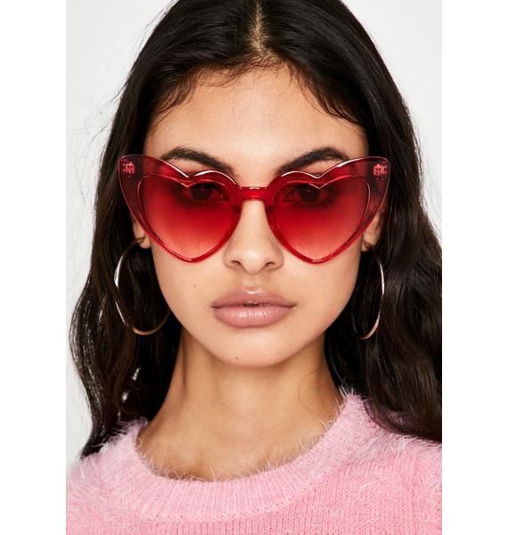 Cherry Un-Break Ur Heart Sunglasses
