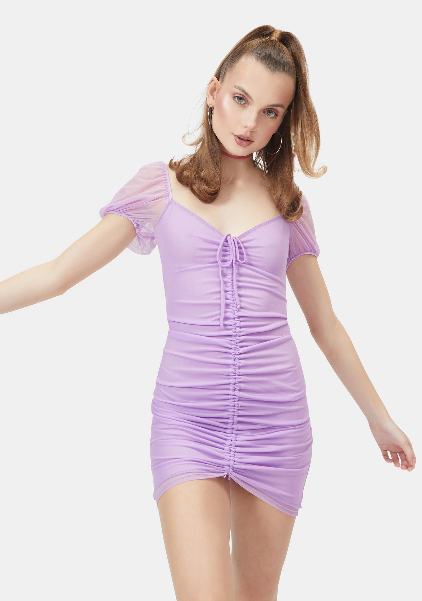 3 In The AM Ruched Mini Dress
