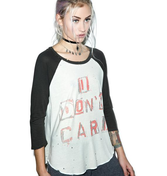Lauren Moshi Maglan I Don't Care Boyfriend Raglan