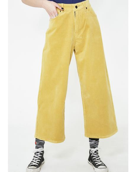 Yellow Cord Trousers