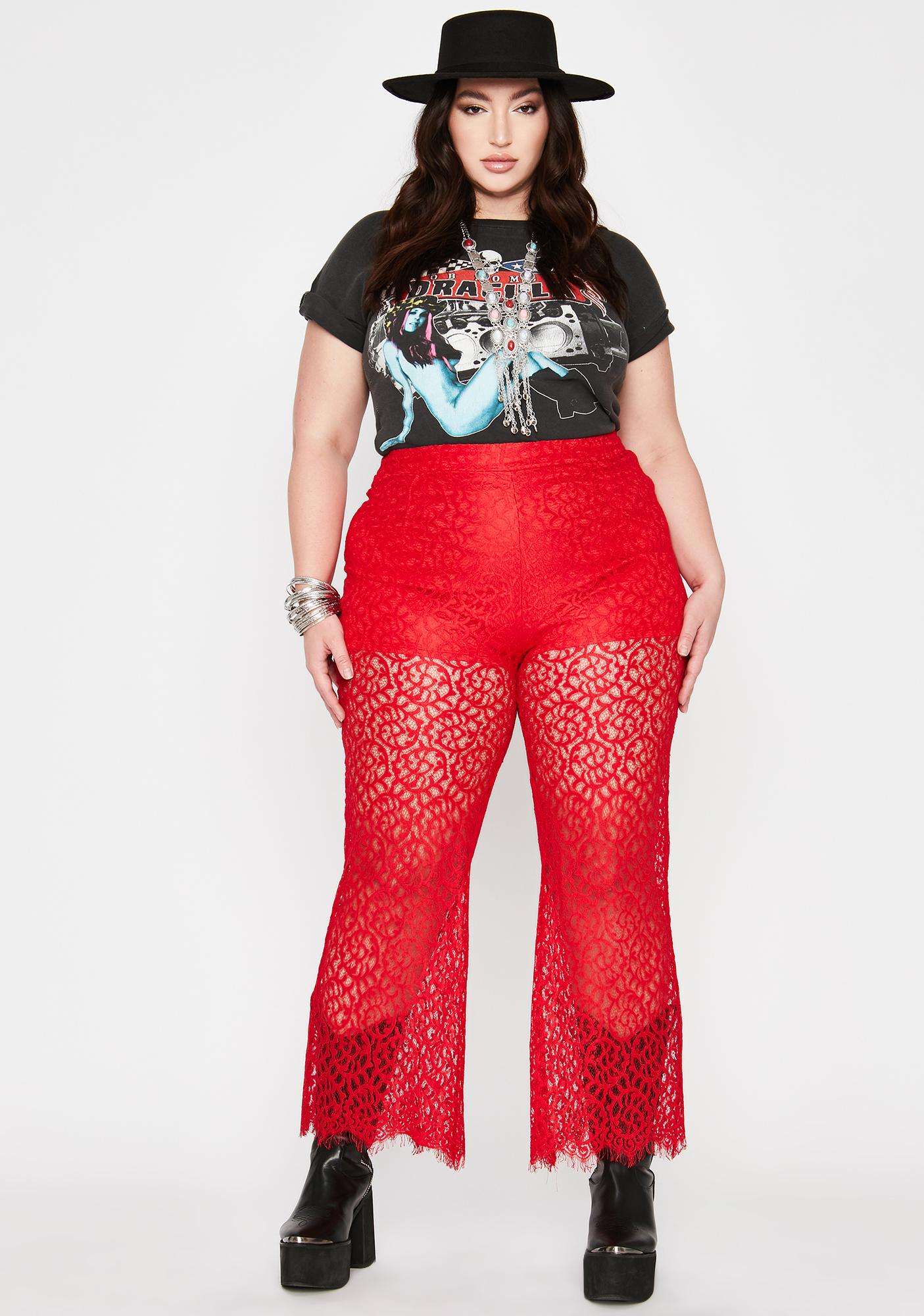 Hot Divine Desert Days Lace Pants