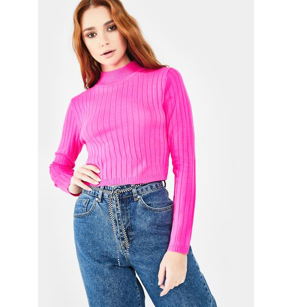 Runaway the Label Trippin Crop Sweater