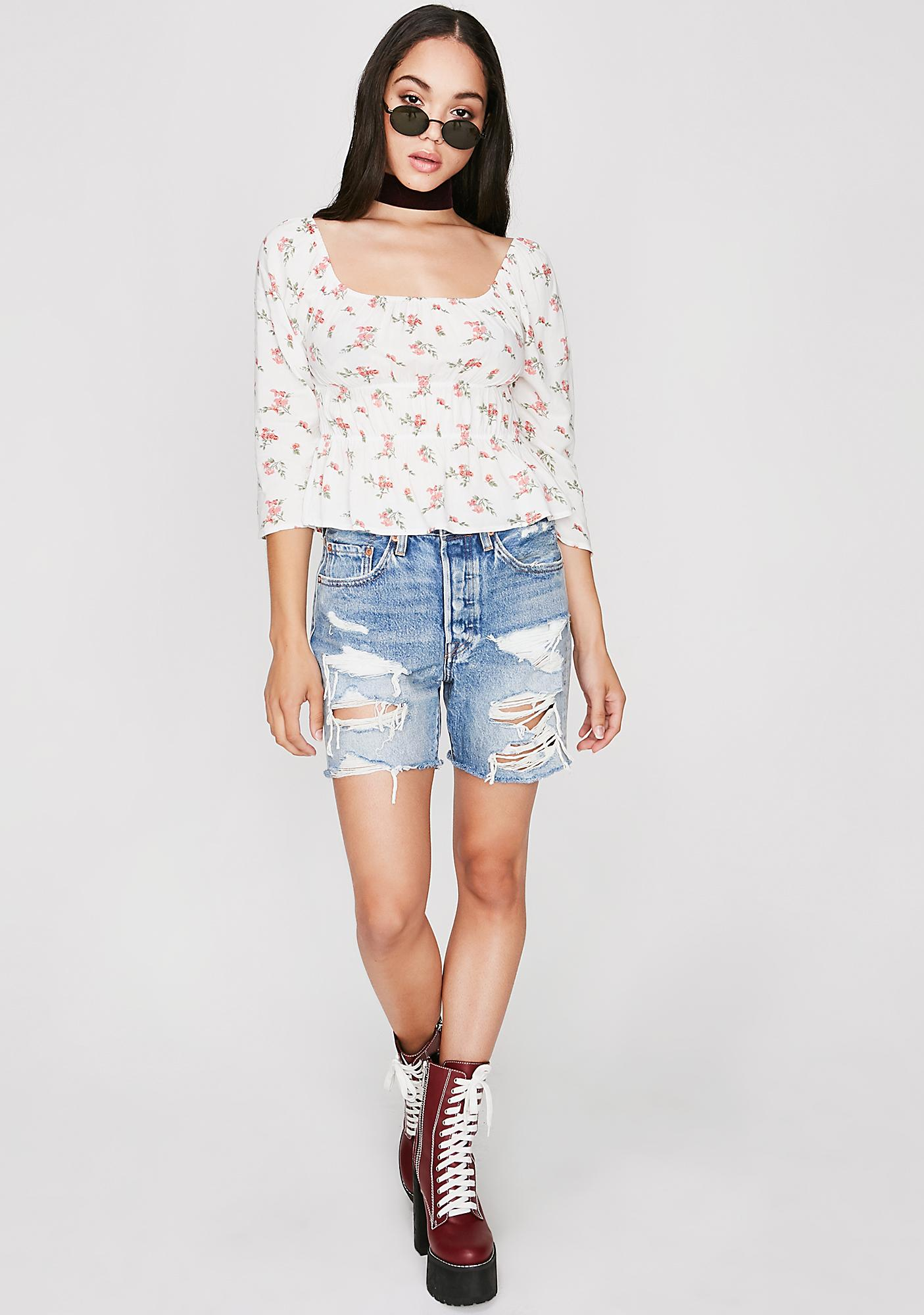 Delicate Flower Floral Top