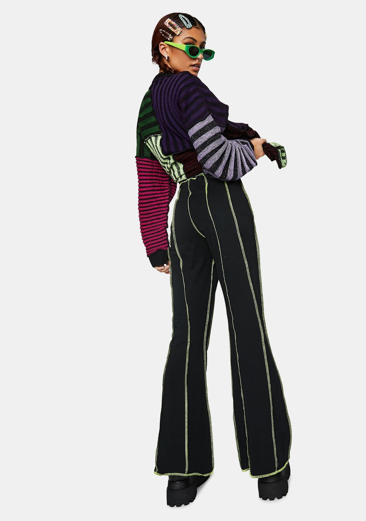 The Ragged Priest Far Out Paneled Flare Pants