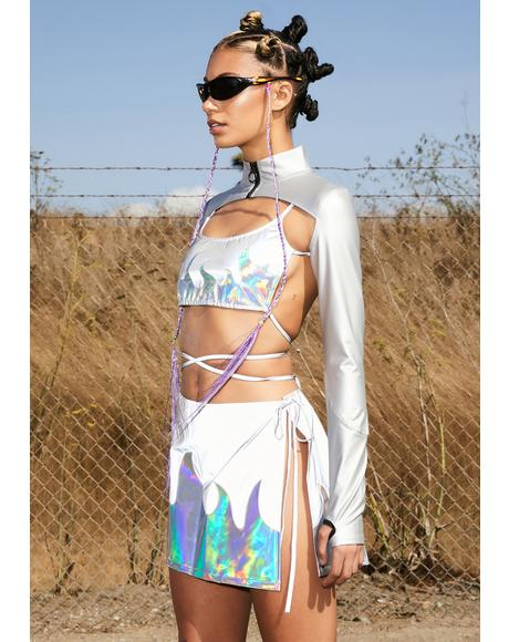 Meteor Magic Reflective Wrap Skirt