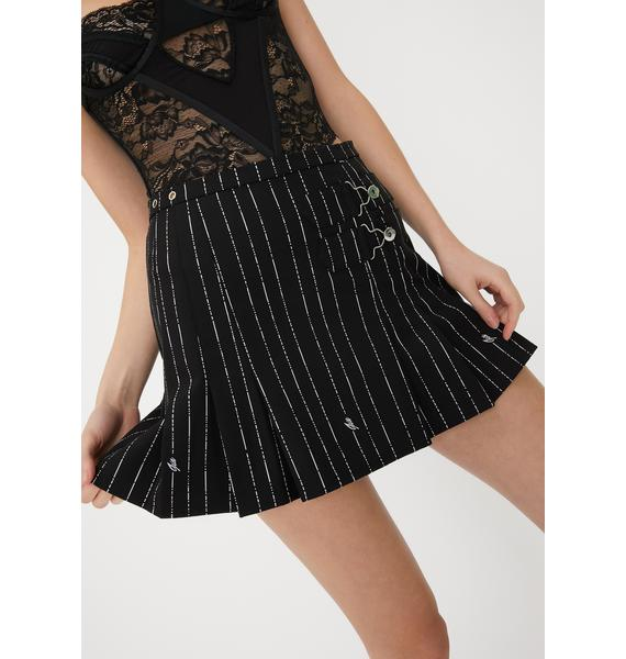 I AM GIA Heather Pinstripe Skirt