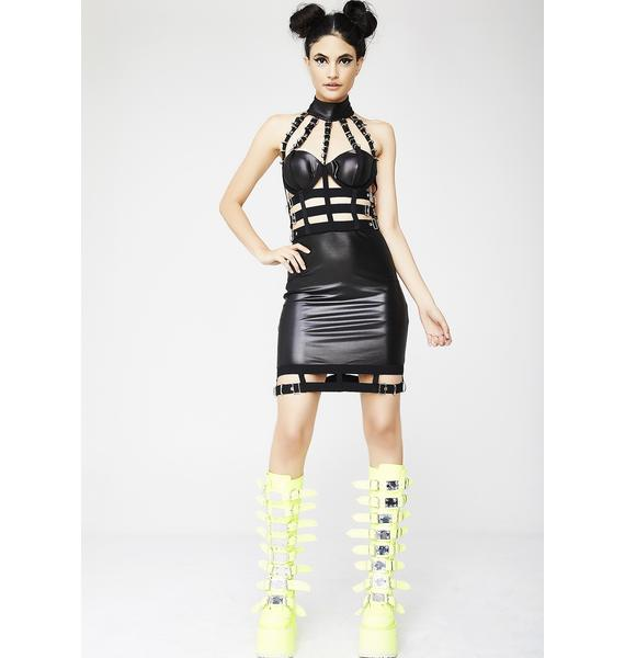 Kiki Riki Crack The Whip Caged Dress
