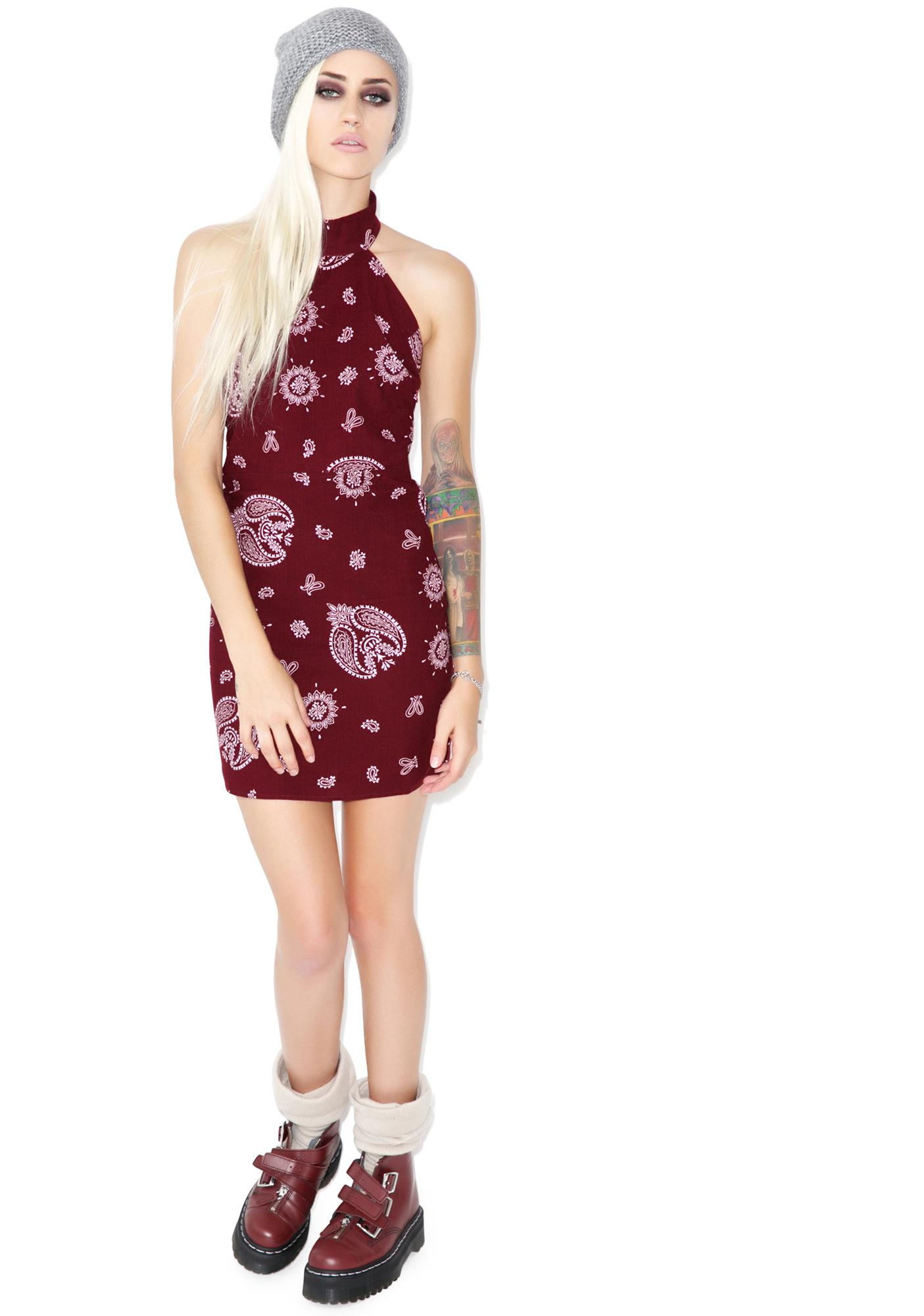 For Love & Lemons Bandana Mini Dress