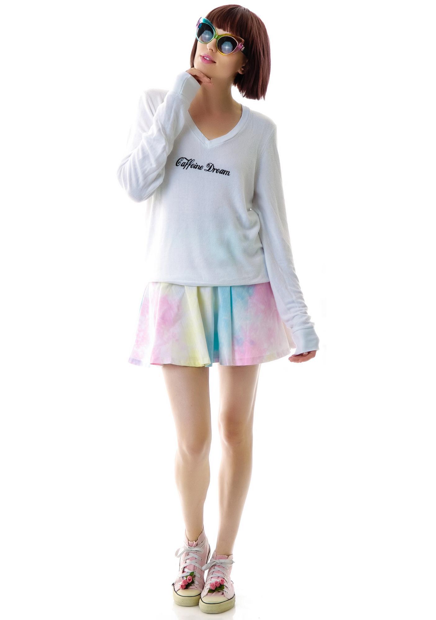 Wildfox Couture Caffeine Dream V-Neck Baggy Beach Jumper