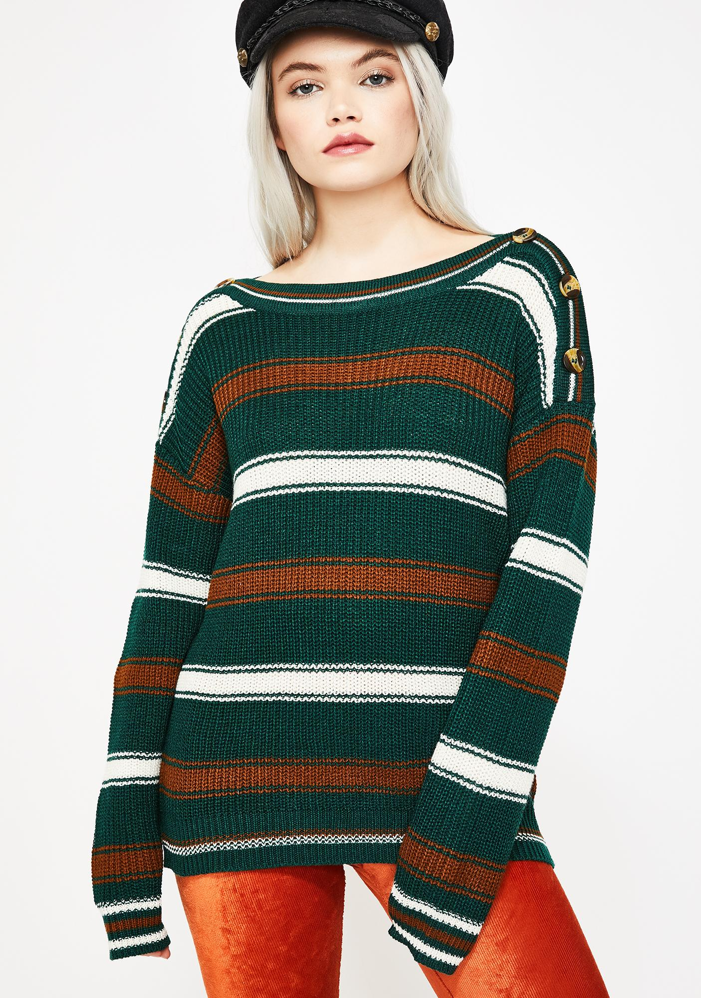Never Come Down Knit Sweater
