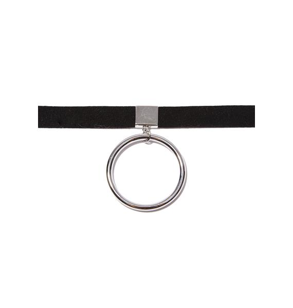 Noir Vegan O-Ring Choker