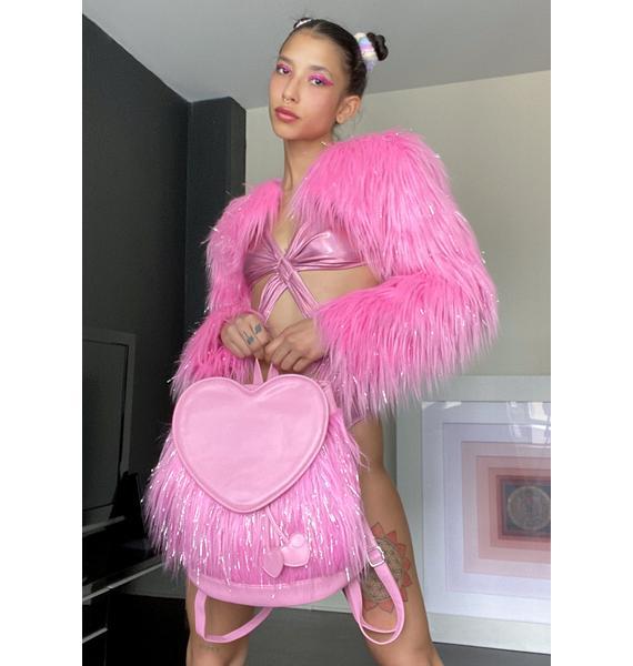 Sugar Thrillz Twinkle Fever Faux Fur Backpack