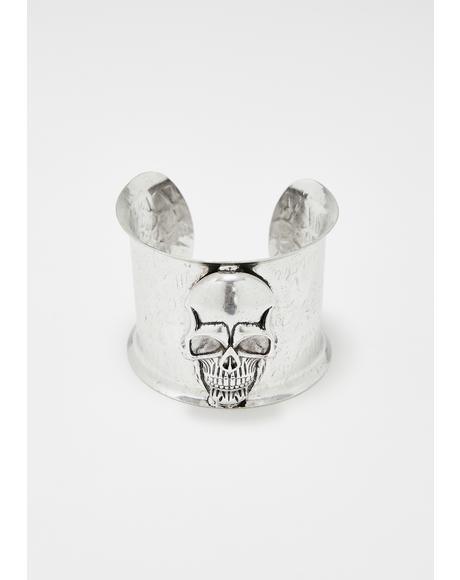 Deathly Fate Skull Cuff