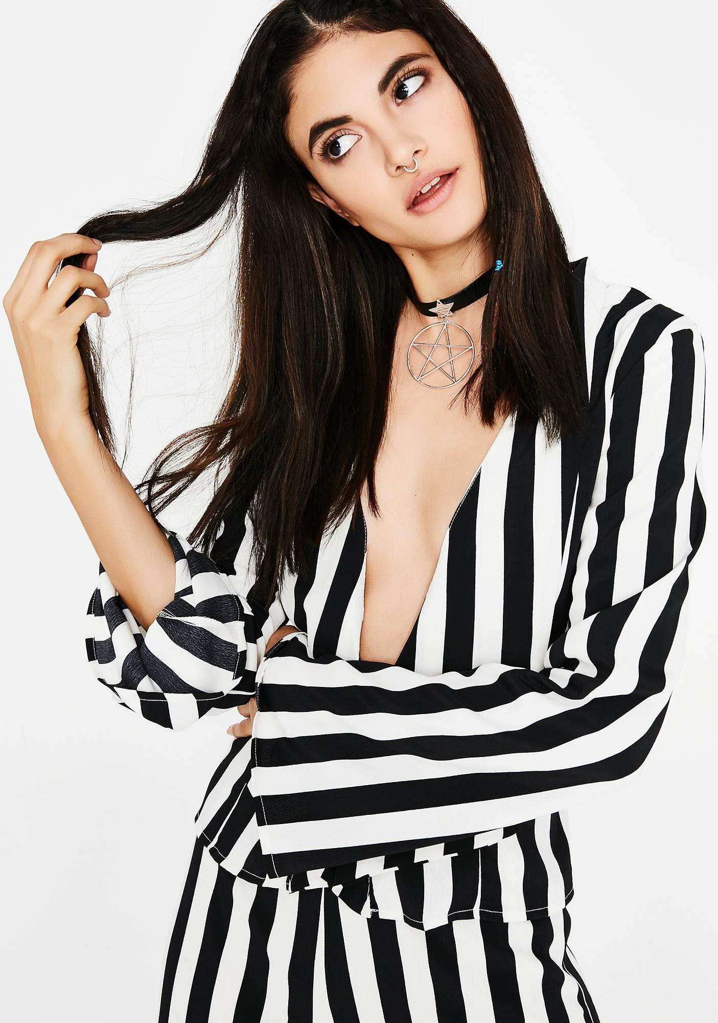 Pretty Crime Striped Top