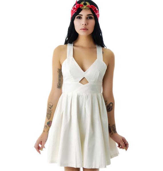 Marilyn Cut Out Babydoll Dress