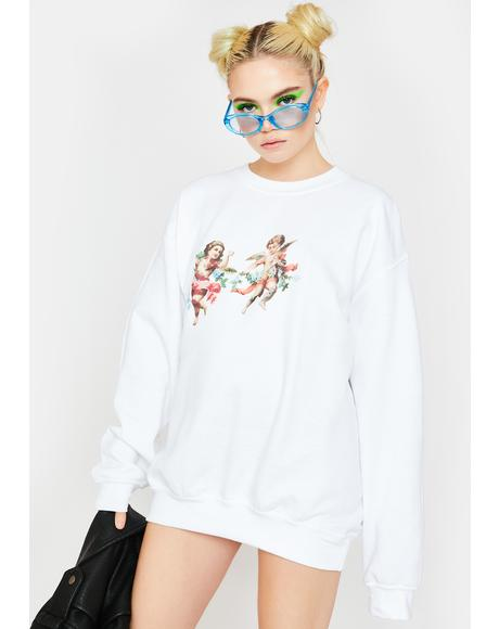 Cherub Oversized Crewneck Sweatshirt