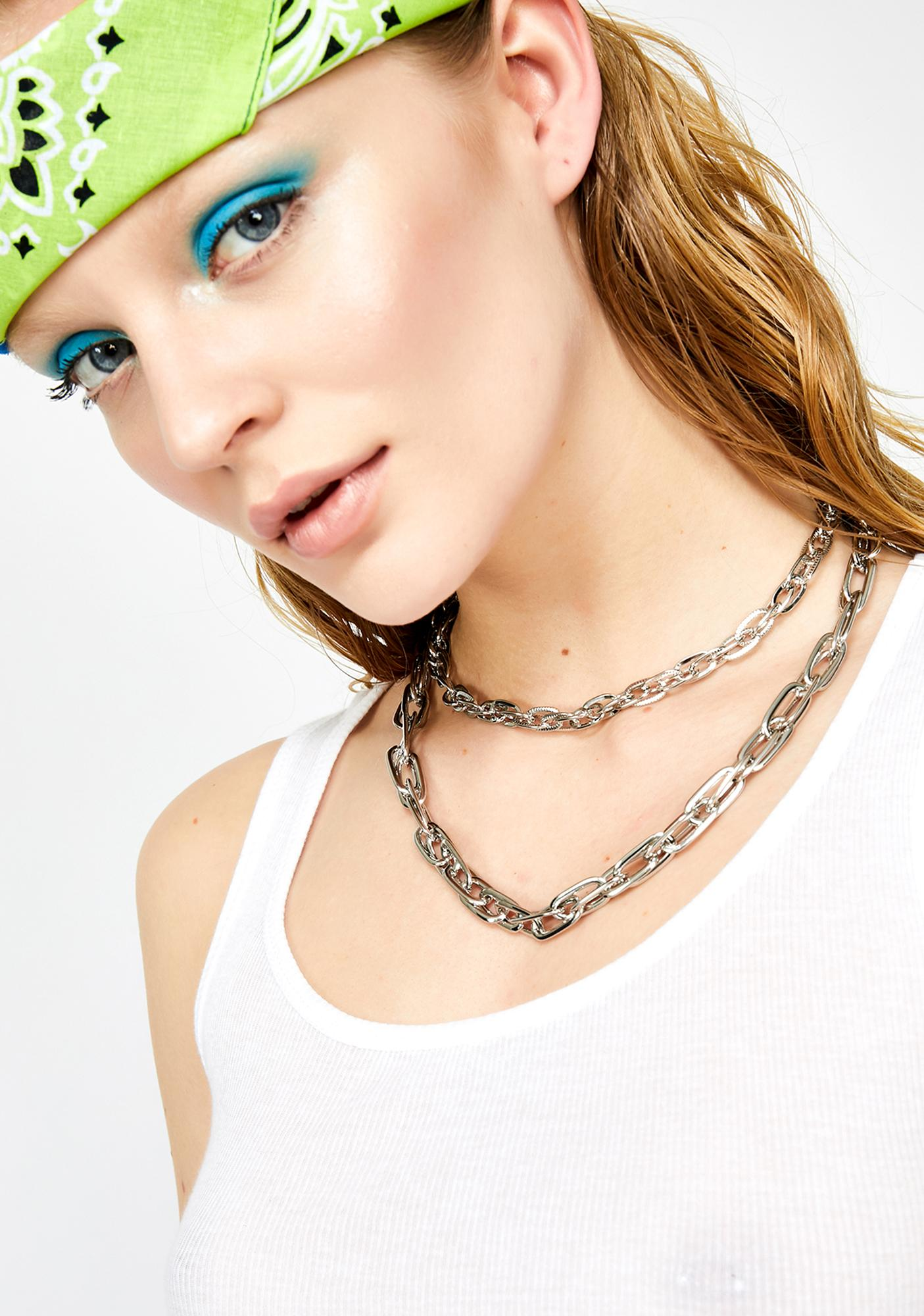 Chain Gang Double Necklace