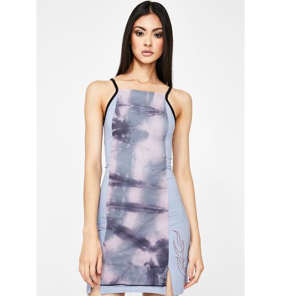 GANGYOUNG Cotton Candy Poison Bodycon Dress