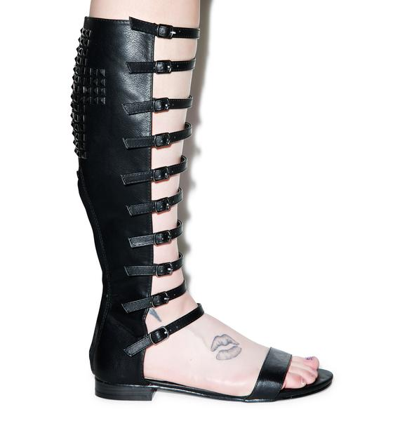 Georgia Studded Gladiator Sandals