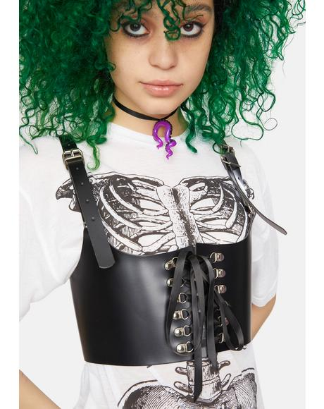 Wicked Will Lace Up Underbust Harness