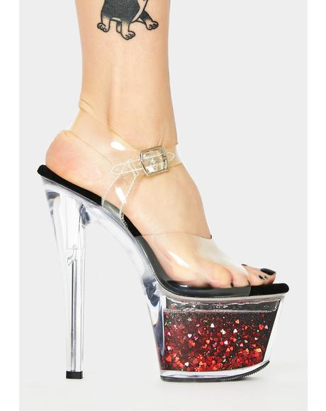 Witch Call Me Crystal Platform Heels