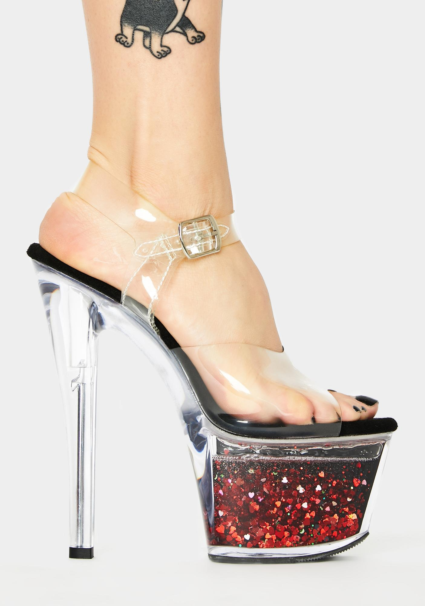 Pleaser Witch Call Me Crystal Platform Heels