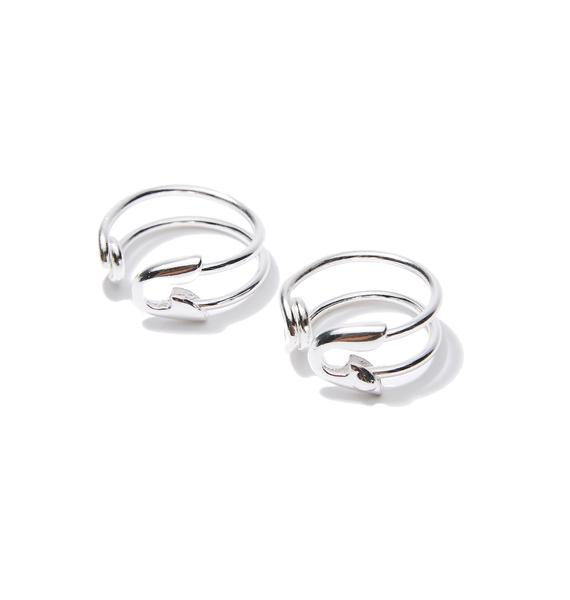Cheap Monday Construct Safetypin Convertible Rings