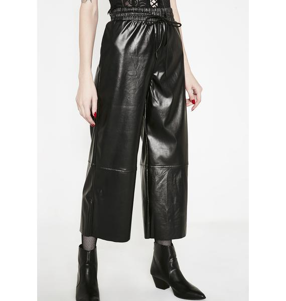 Onyx Material Addiction Cropped Pants