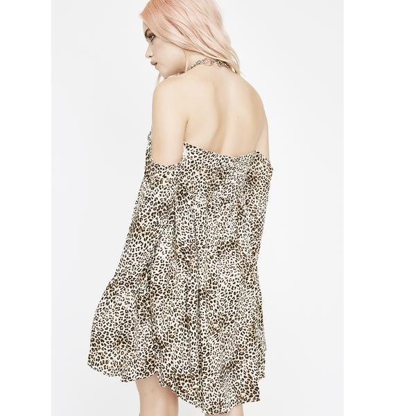 Wild Kitten Off Shoulder Dress