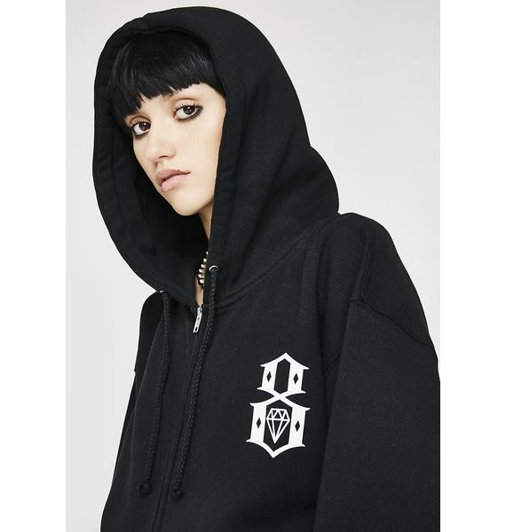 Rebel8 Standard Issue Logo Zip Hoodie