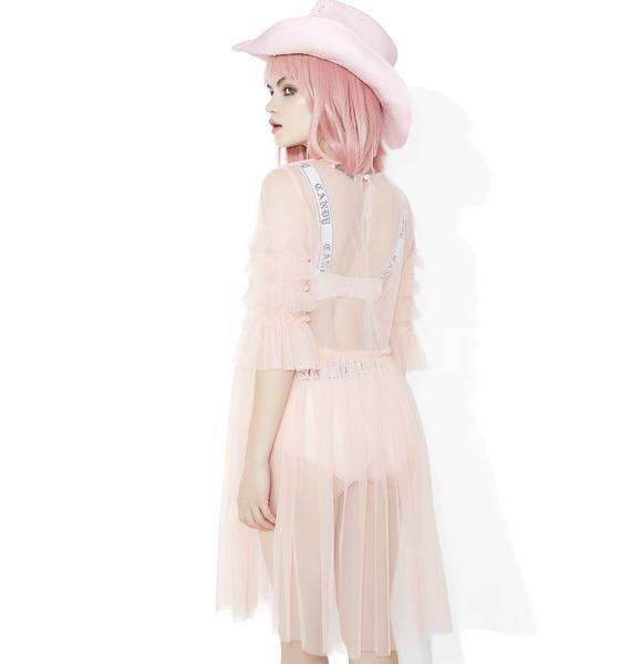 Glamorous Sheer Ruffle Smock Dress
