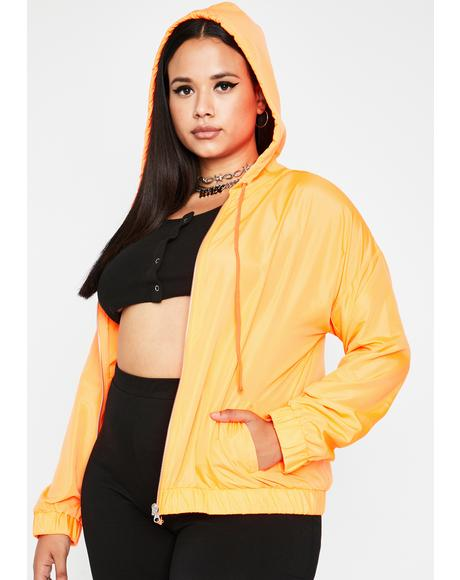 Juicy True Today's Forcast Neon Windbreaker