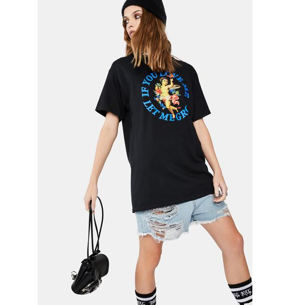 Petals and Peacocks Black If You Love Me Graphic Tee