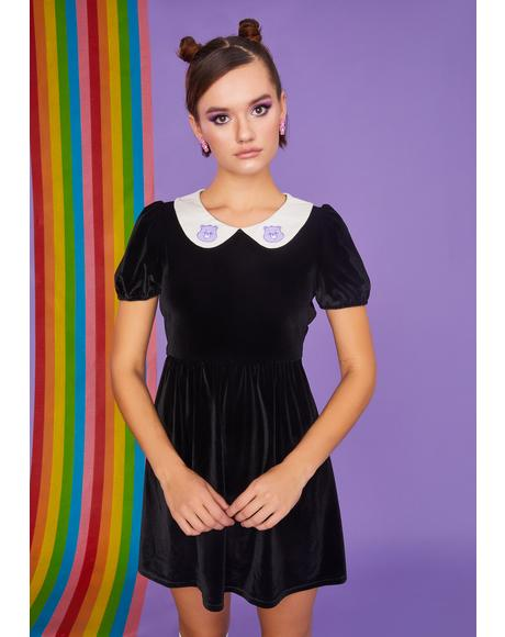 Love You Forever Velvet Babydoll Dress