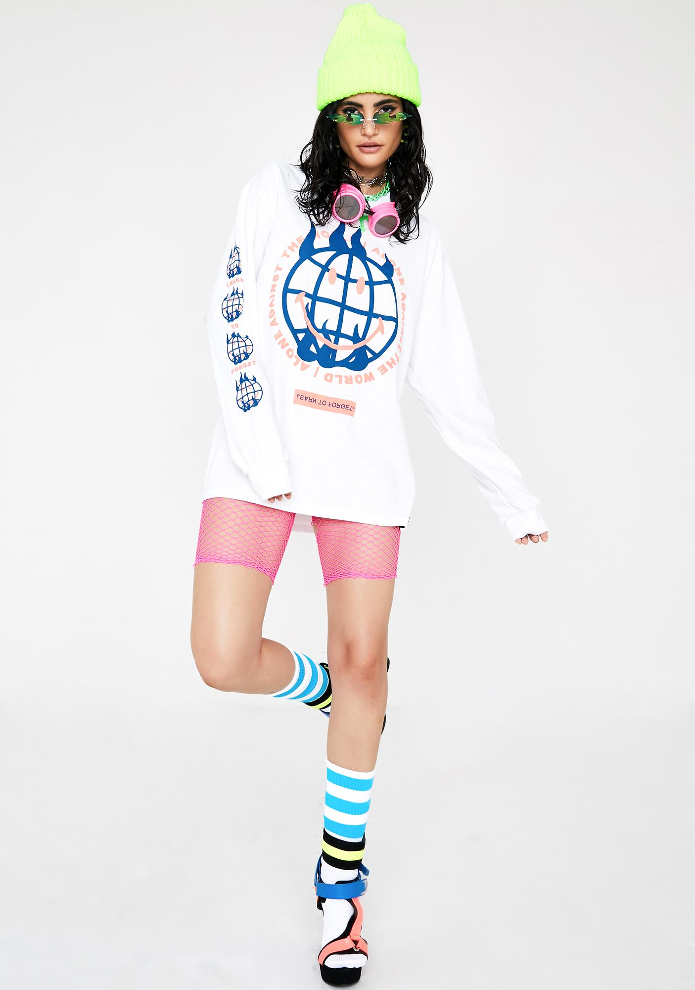 Learn To Forget  X Smiley Against The World Graphic Tee