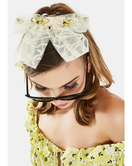 Flying Solo Organza Hair Bow