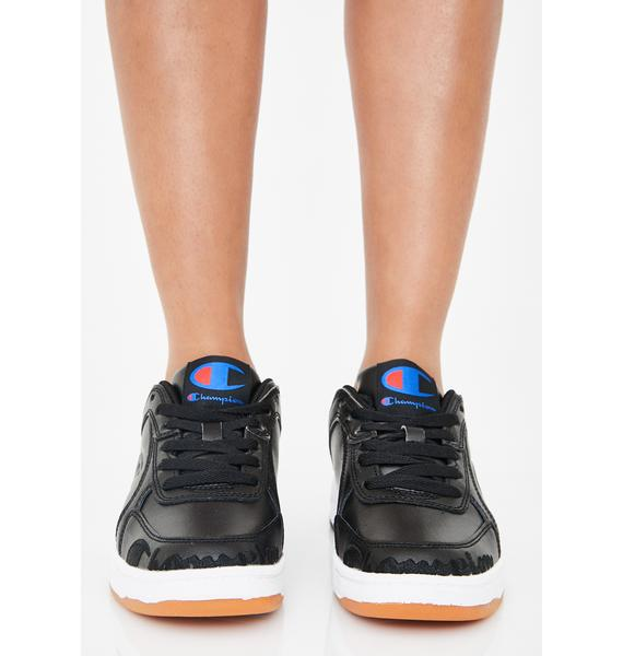 Champion Black Super C Court Low Mono Sneakers
