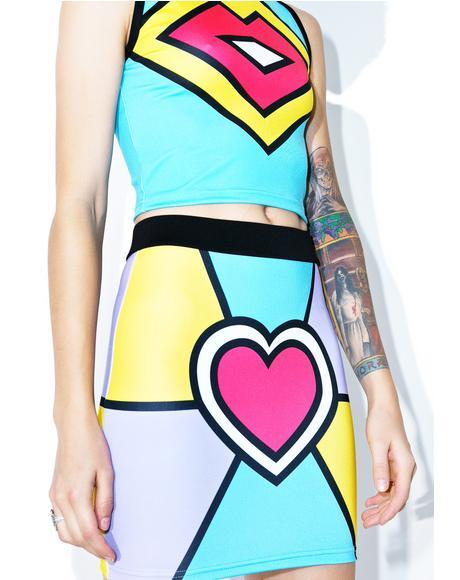 Electric Love Mini Skirt