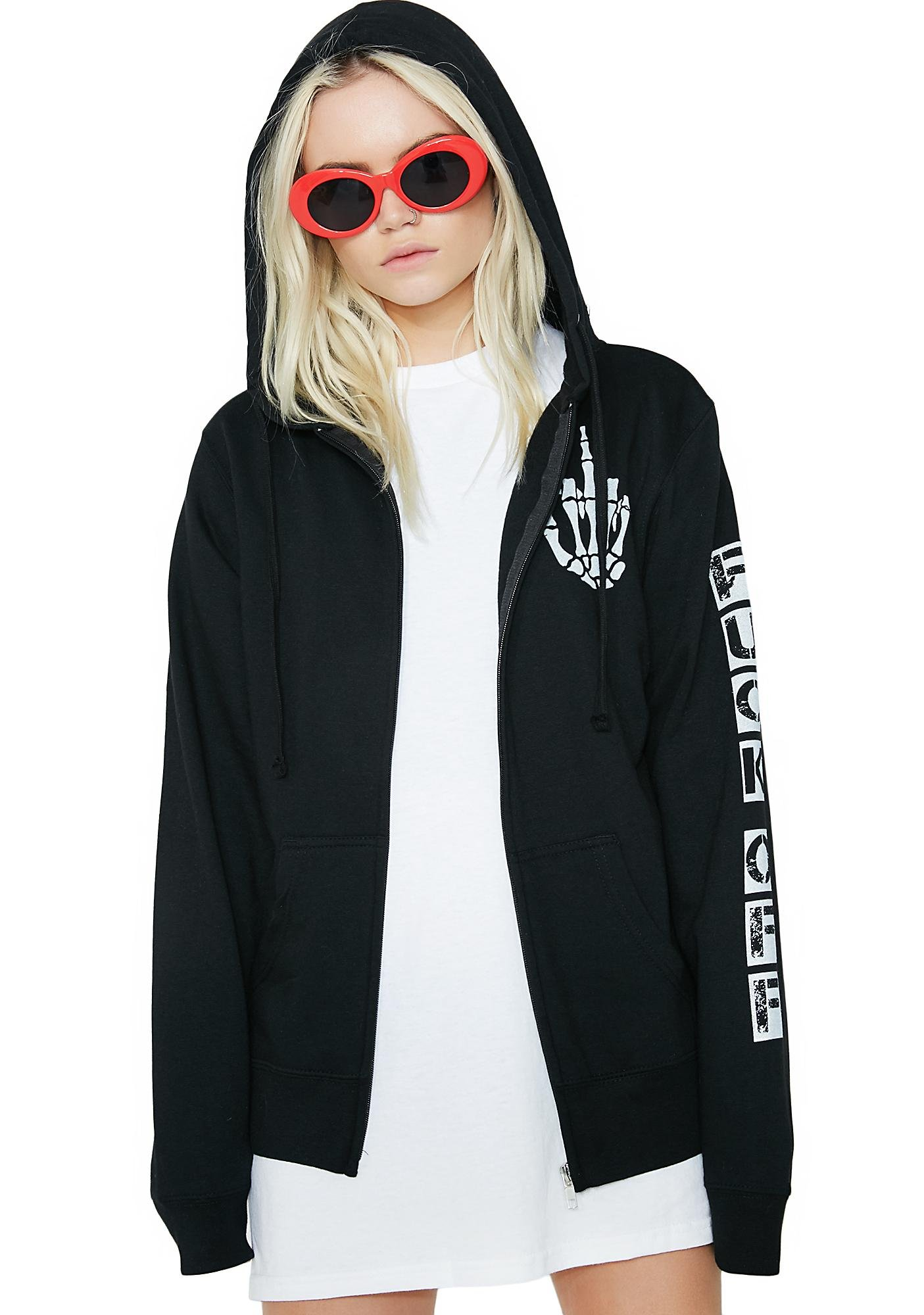 Middle Finger Up Hoodie