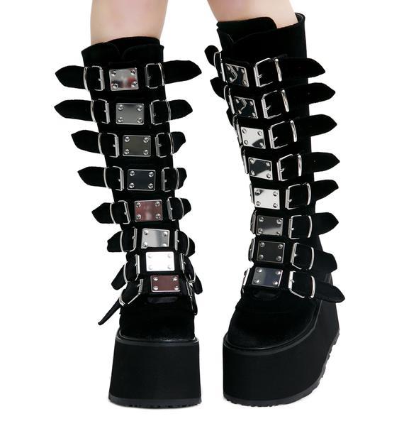 Demonia Velvet Morpheus Platform Boots