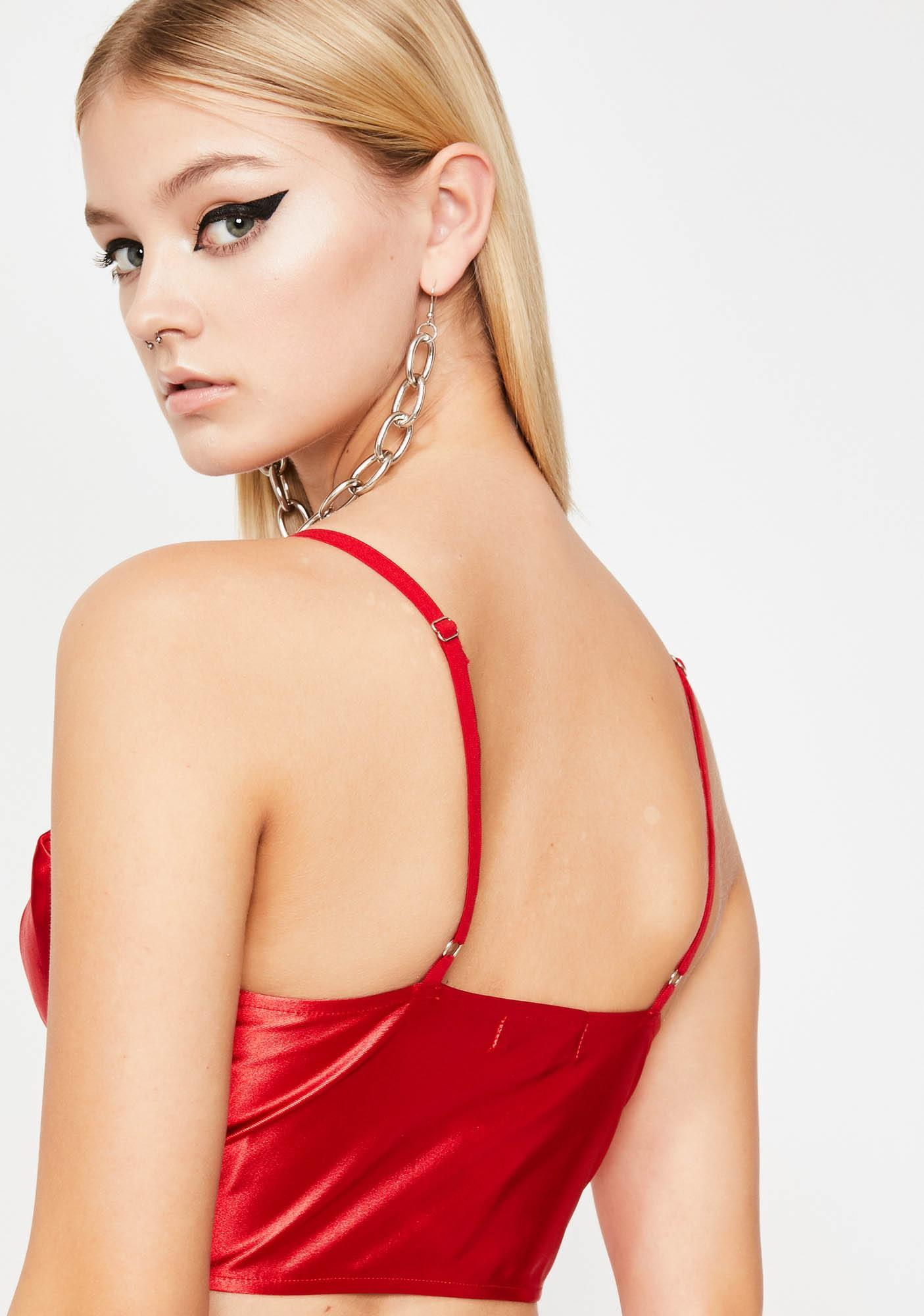 Hell'z Angel Satin Top